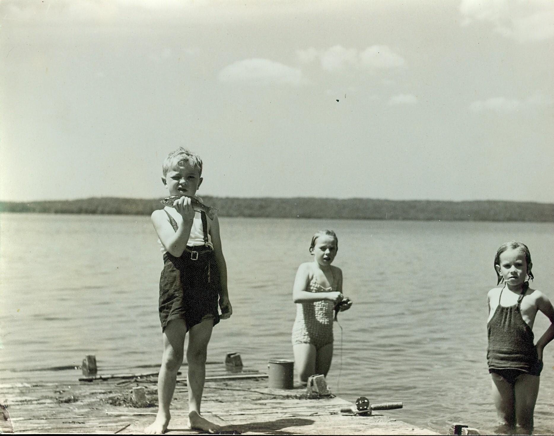 Fishing Jimmie Hickey, Phyllis Hickey, Anne Barlow