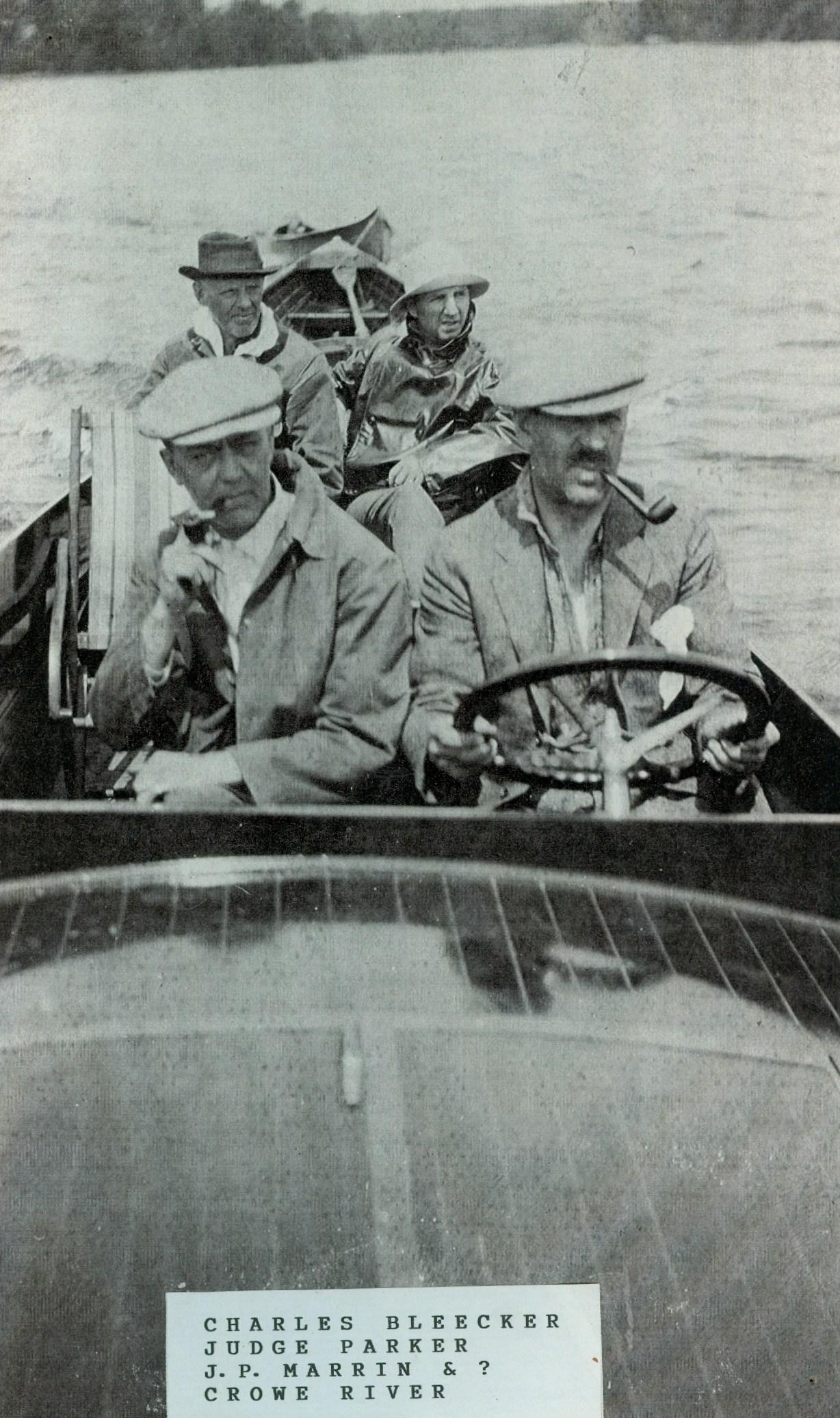 Boating , Charles Bleecker, Judge Parker J.P.Marrin