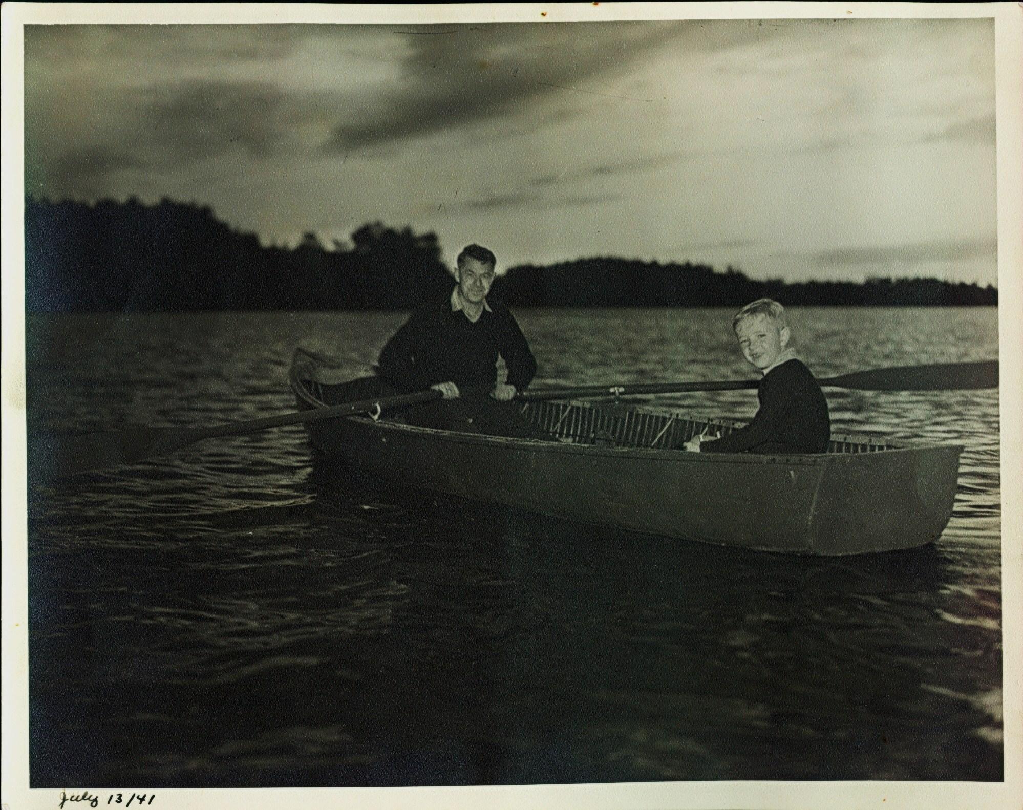 Boating Jimmie Hickey & Warren Hickey 1941