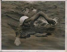Helena Tomska, American & Canadian swimming champ, visited Crowe Lake