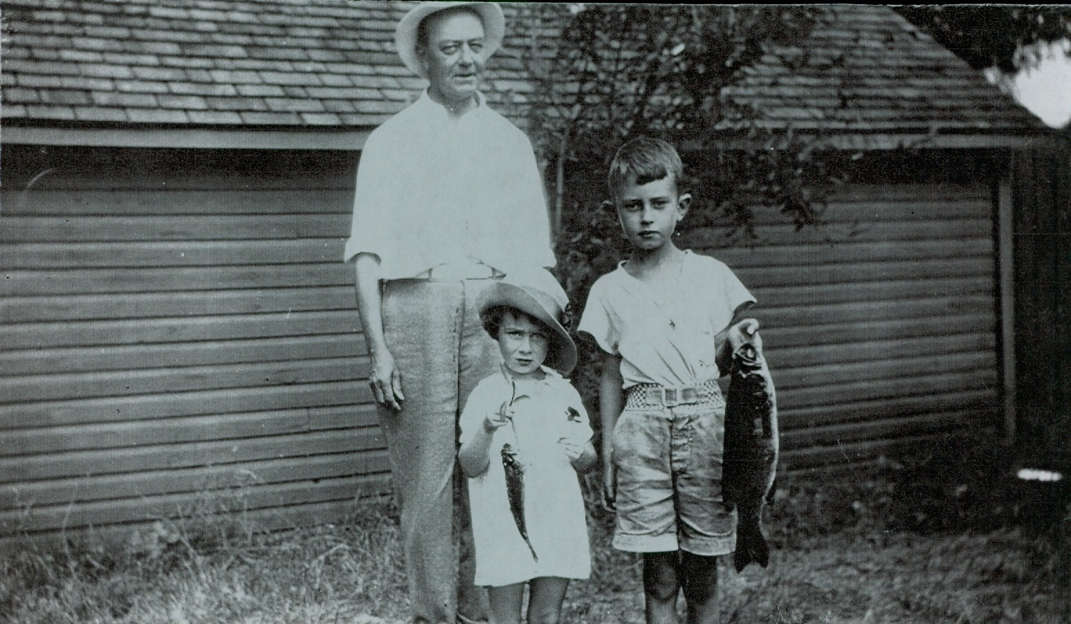 Fishing Judge Jim Parker, Ron Parker, Mary Parker 1936