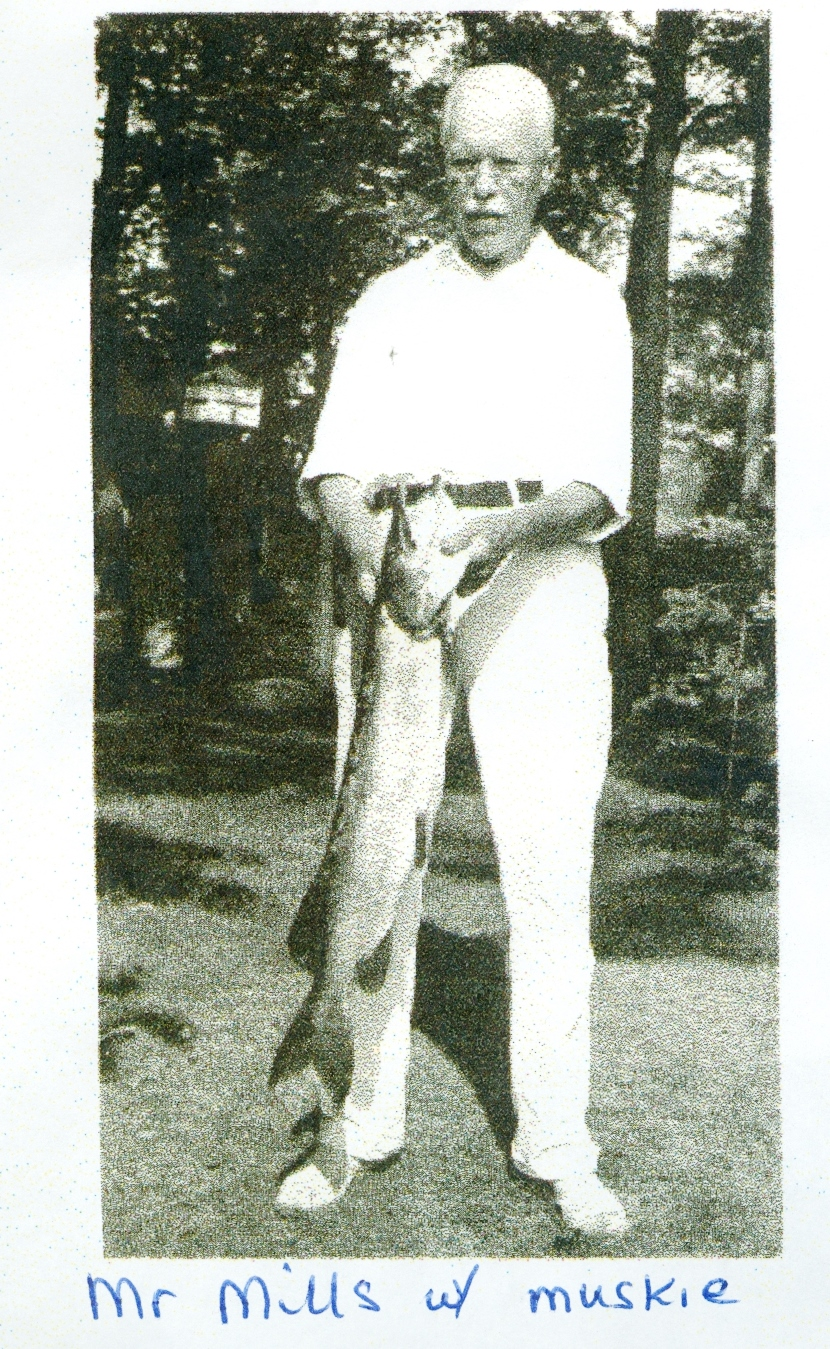 Mr. Mills and his muskie