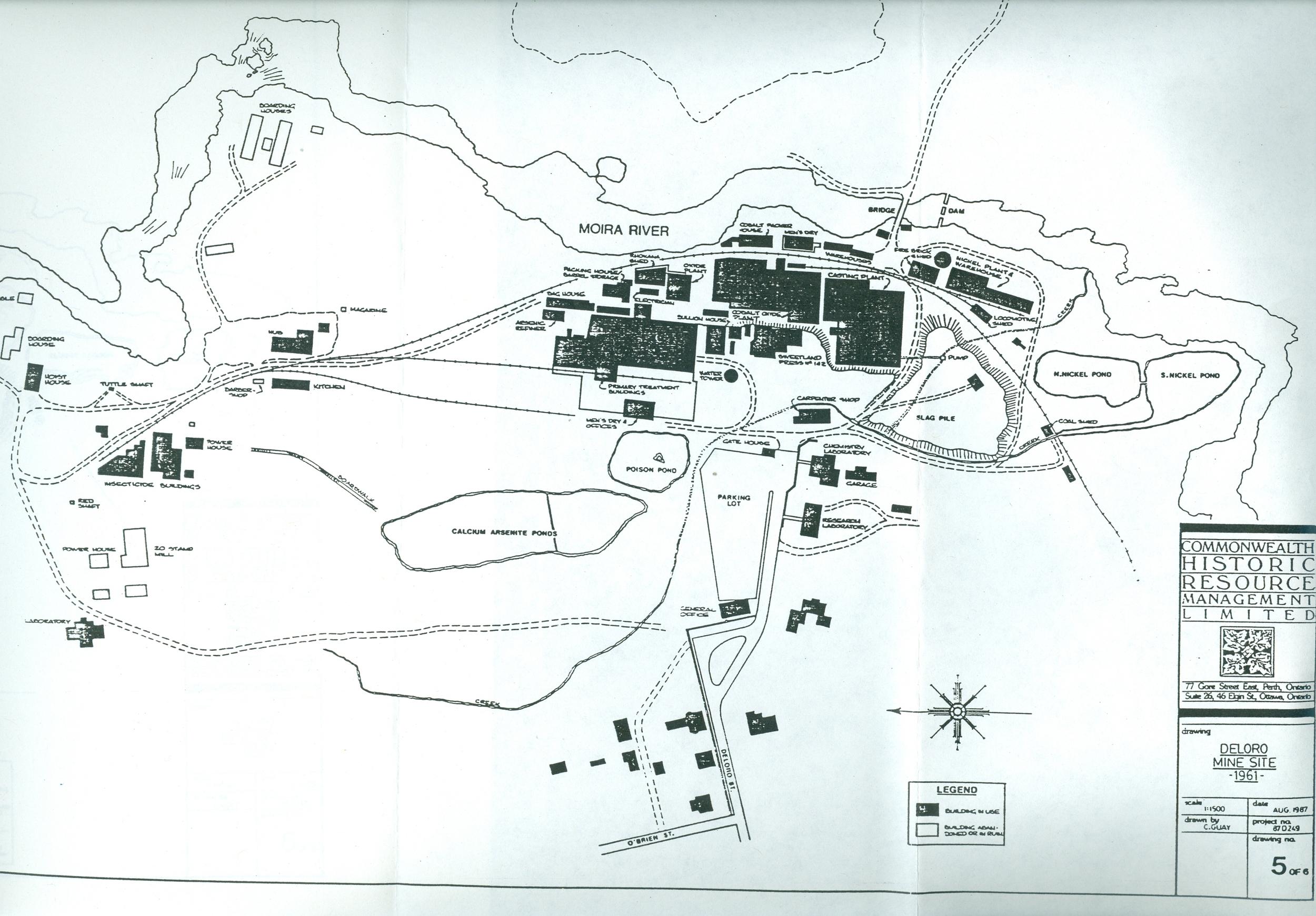 Map of Deloro site 1961.jpg