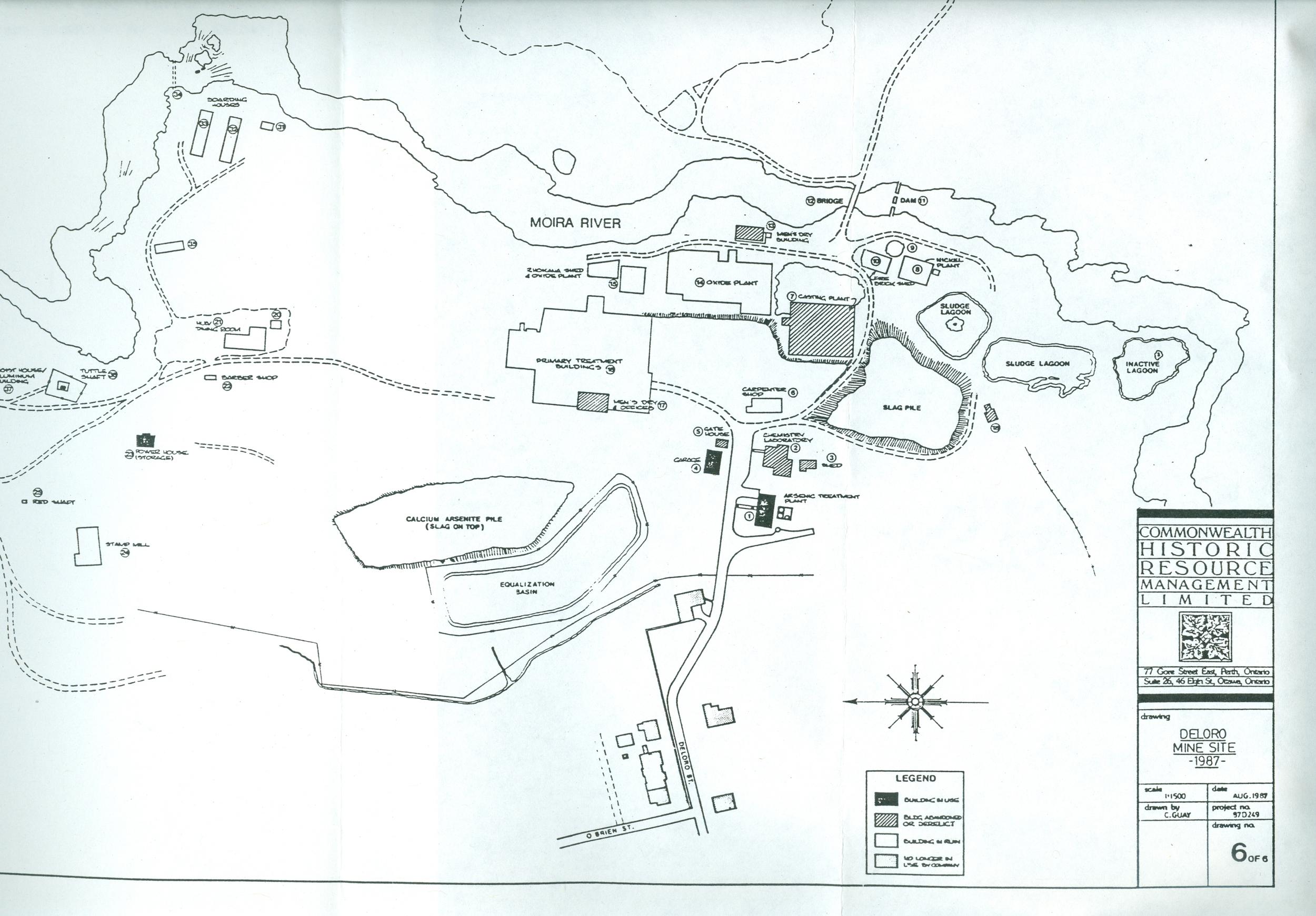 Map of Deloro site 1987.jpg