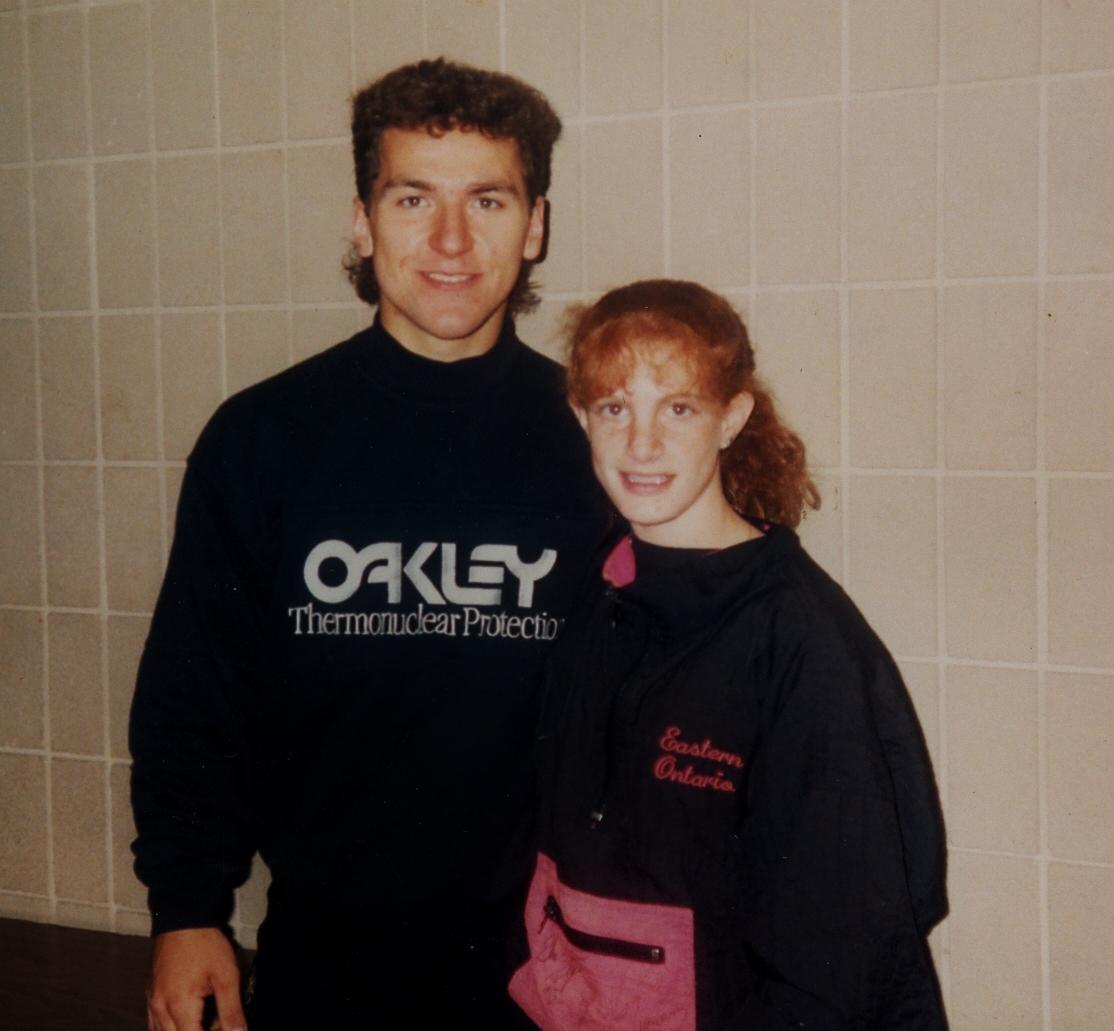 1994 Stefanie Partridge with Elvis Stojco, Barrie