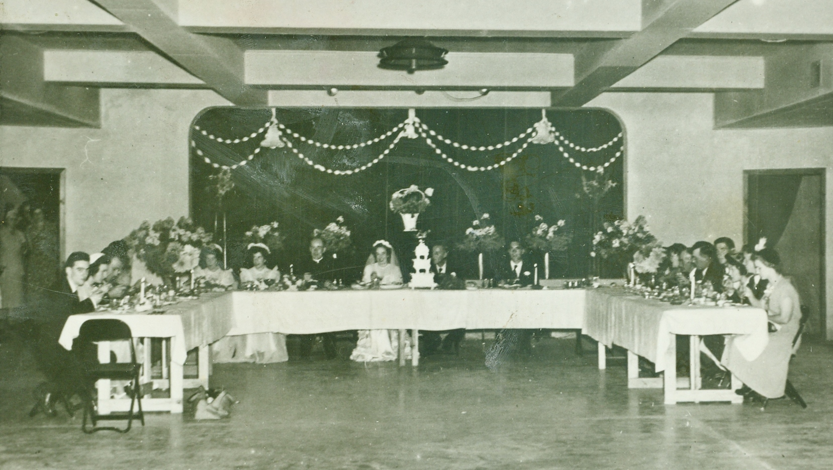 Photo of basement, one year after completion. Mary Doyle's wedding