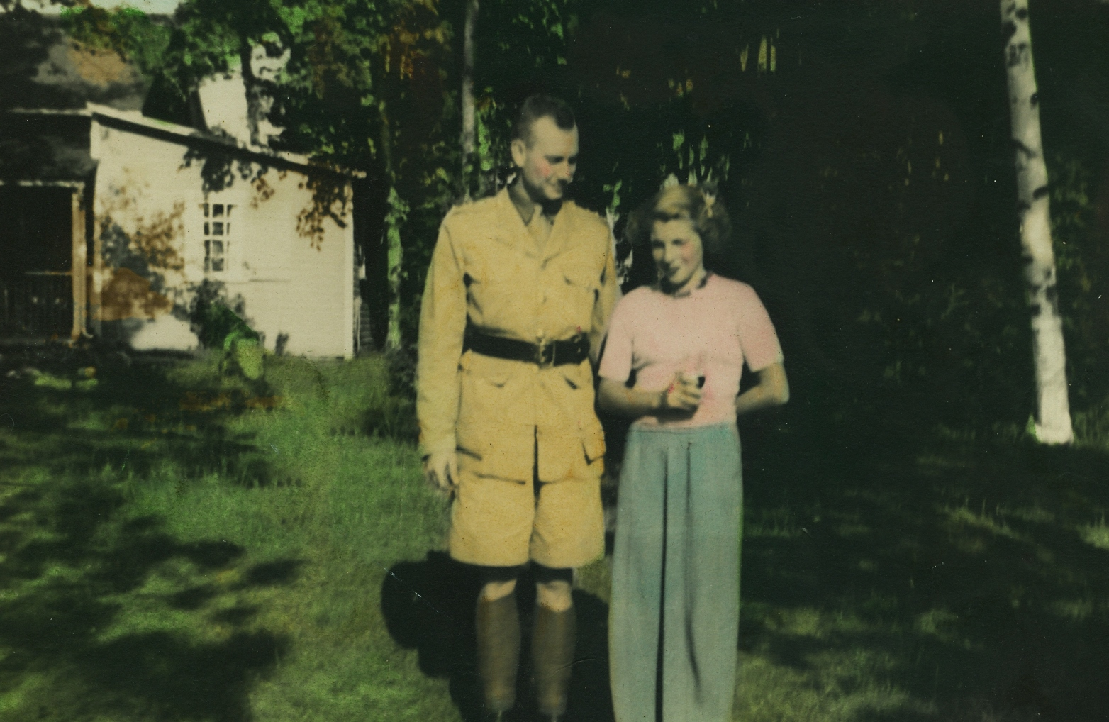 1941 Crowe Lake Bill Greenwood, Betty Greenwood