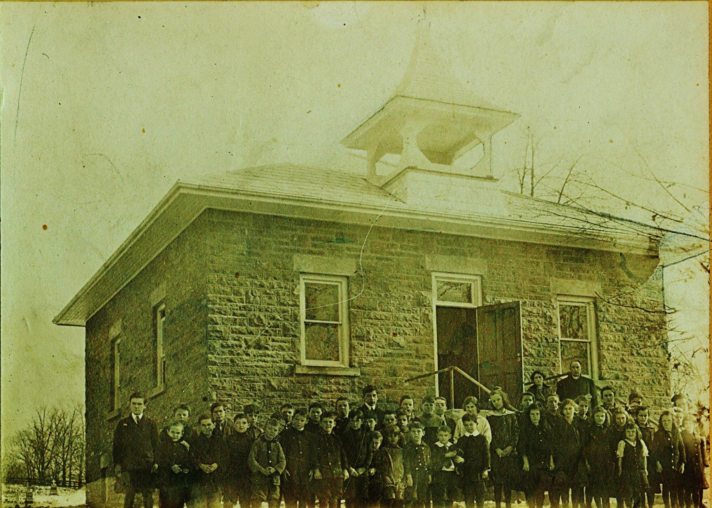1915 Marmora Separate School, Mary Brennan teacher, Father Murtagh