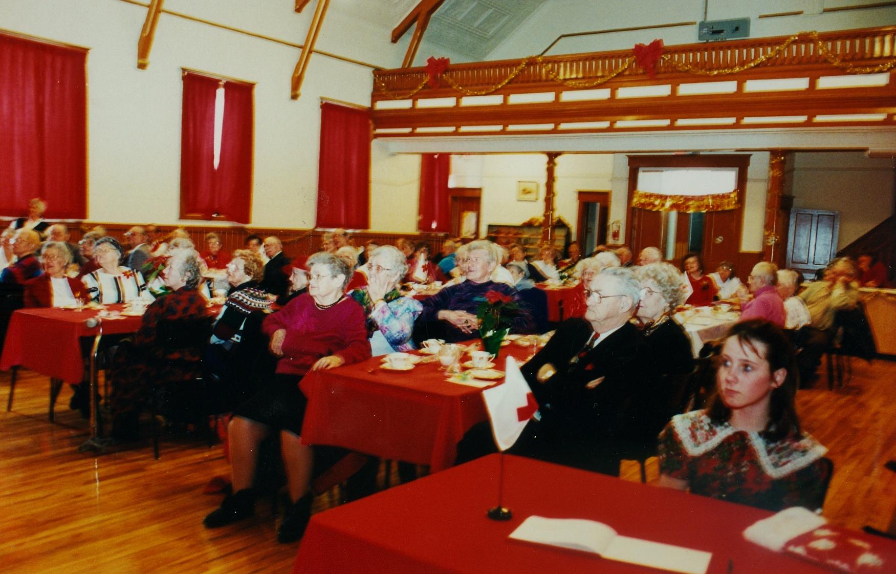 Red Cross christmas dinner for seniors