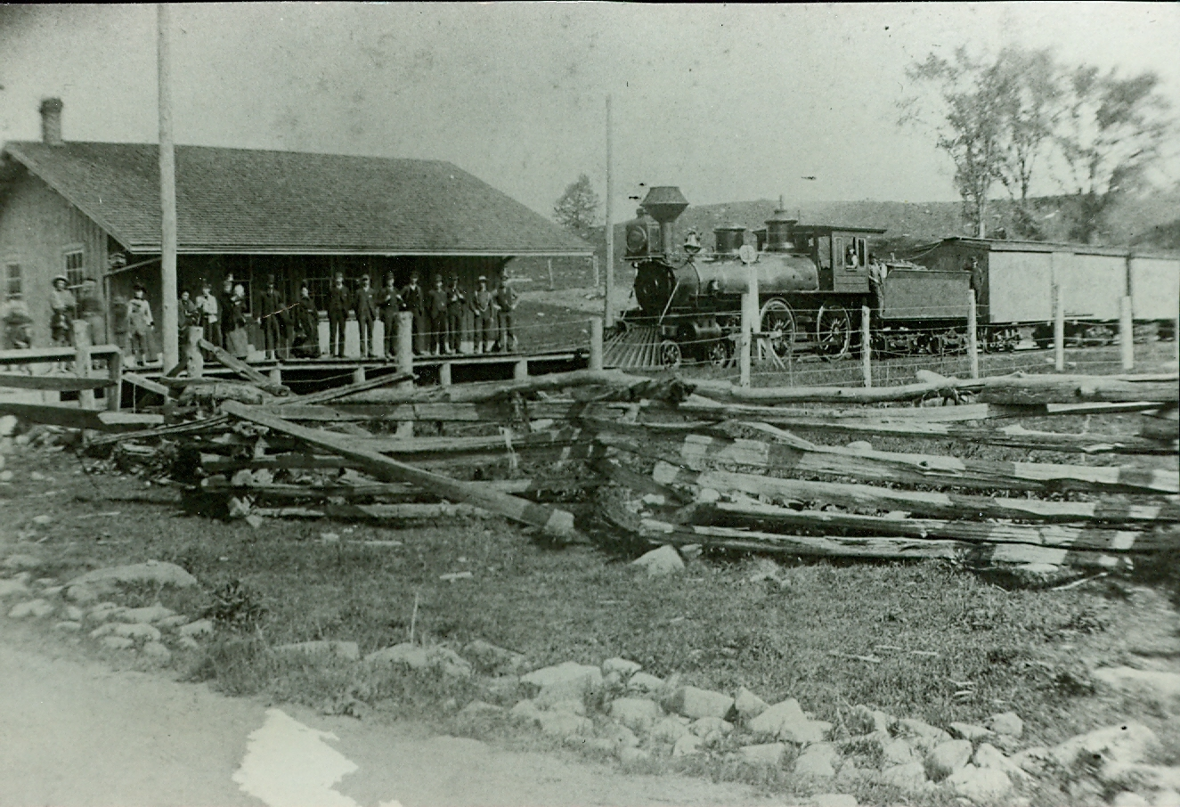 Central Ont. Railway, Marmora Station (Wolfe Station) 1884