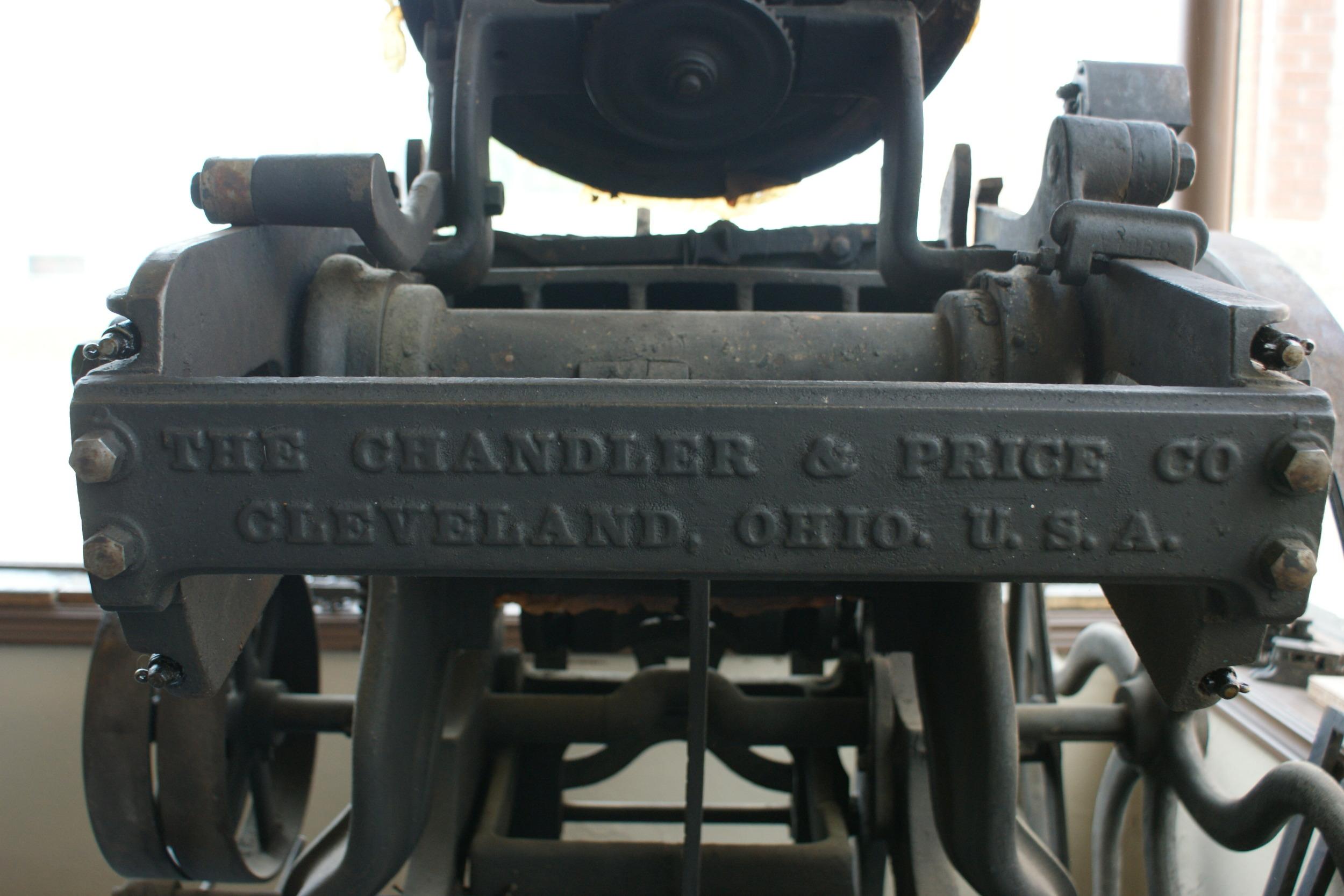Chandler & Price Printing Press ,  Cleveland,  Ohio.JPG