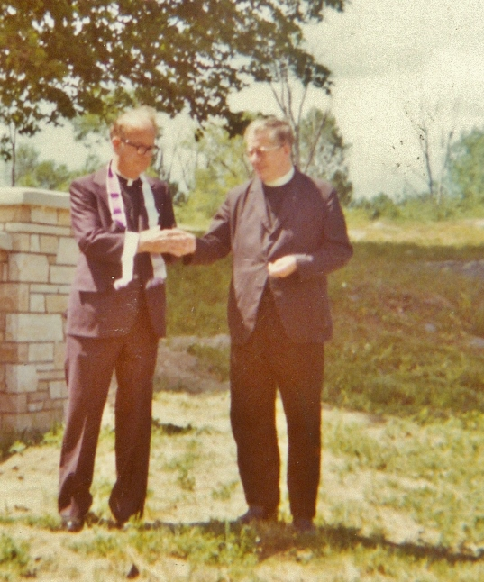 Father Healey & Father Keyes at St. Matilda's Church