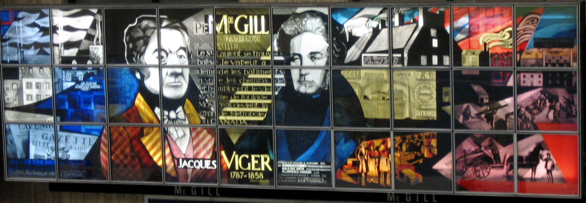 Montreal's McGill station celebrating montreal's first two mayors in stained glass