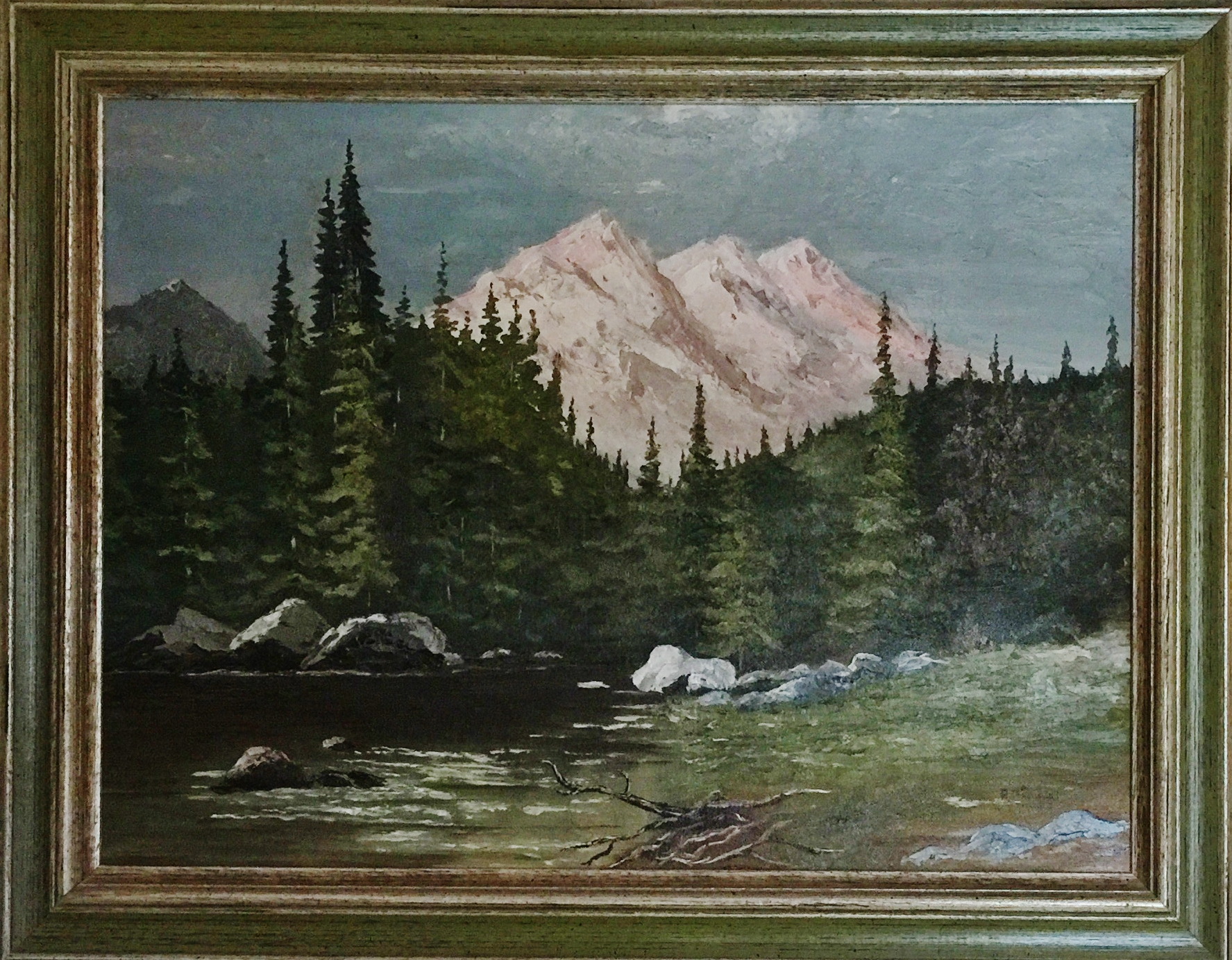 Oil painting by Bob Broadbent