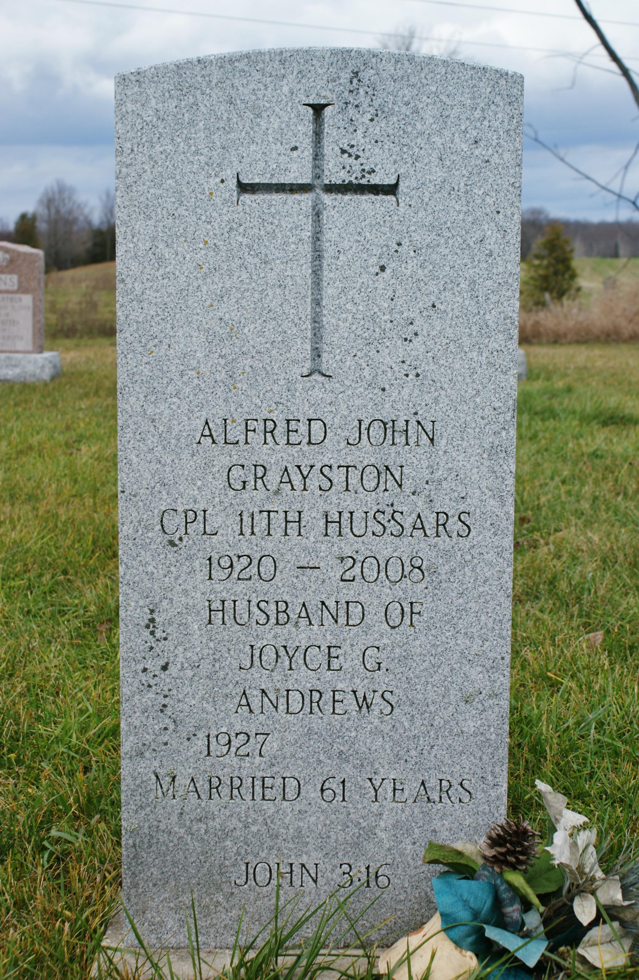 Grayston,  Alfred John Headstone 1920-2008.JPG