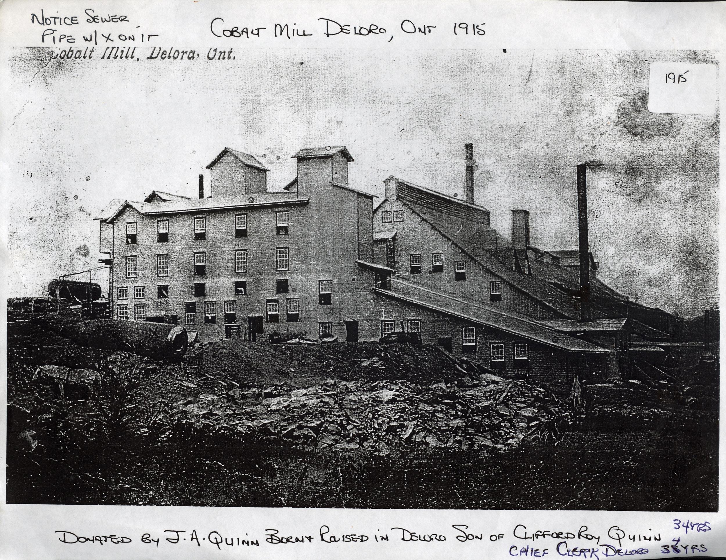 1915 Cobalt Mill, Deloro
