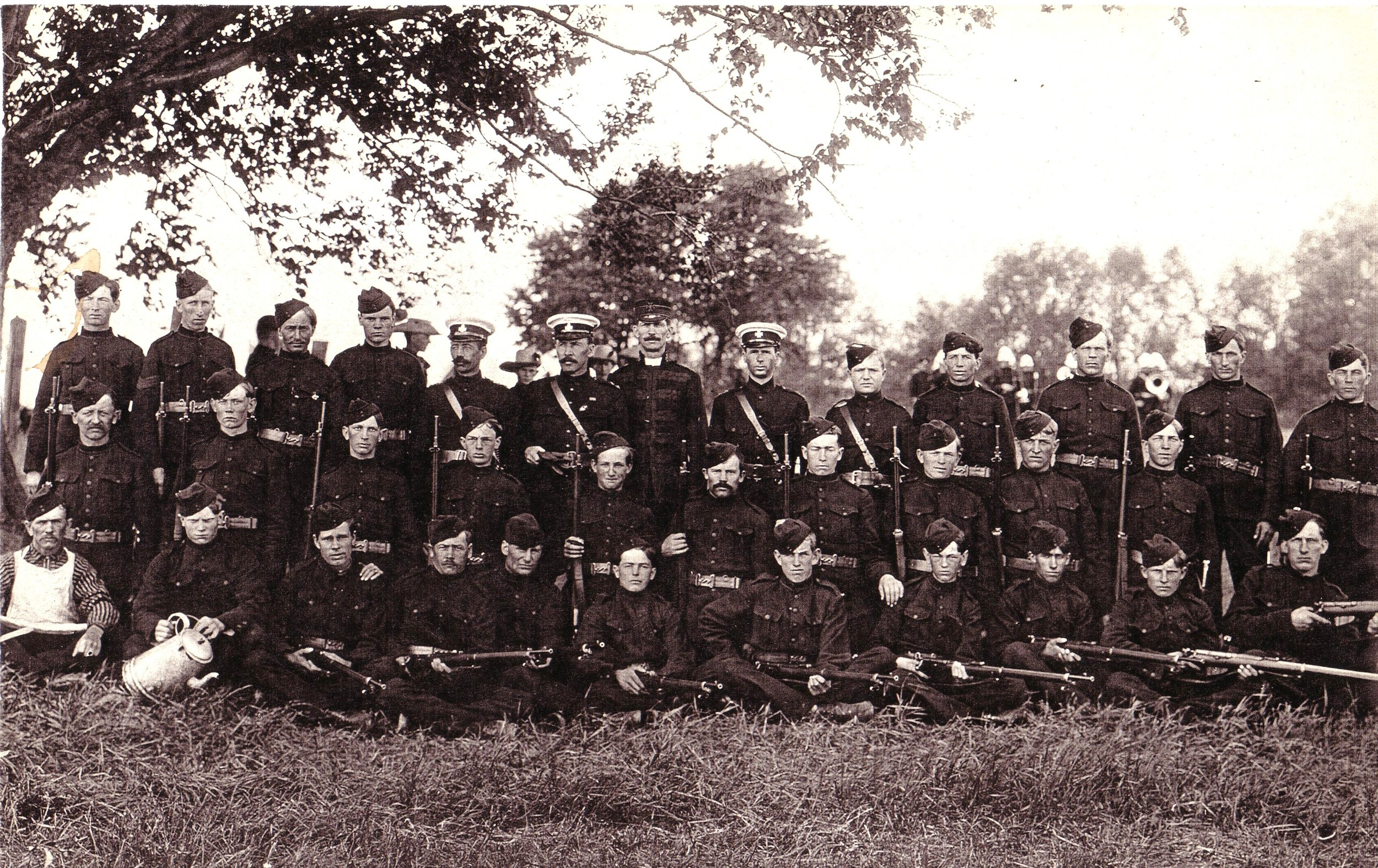 Wartime - c.1914 Charles Archibald Bleecker back row 5th from left