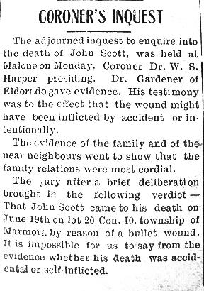 The Death of John Scott July 1915