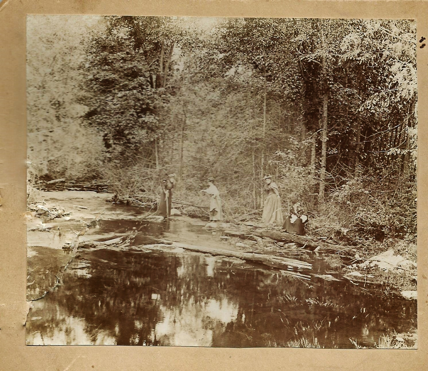 1897 Rawdon Creek, near Orchard Farms,Wellman's  Corners.., Emily Parker, Lou Judd, Julia Pearce, Jane Pearce. Vandervoort