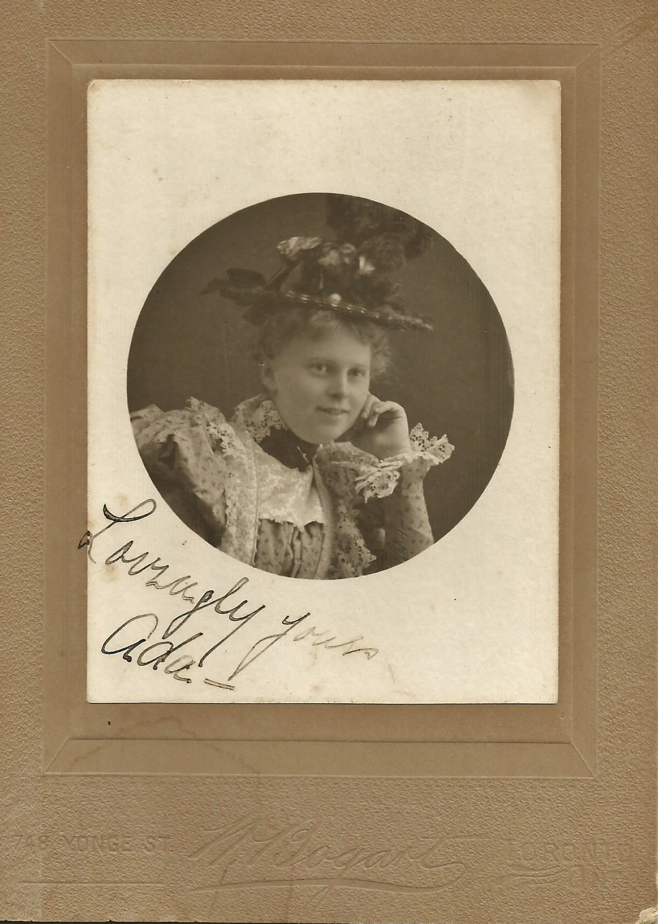 Ada Pearce, Toronto 1887.jpg