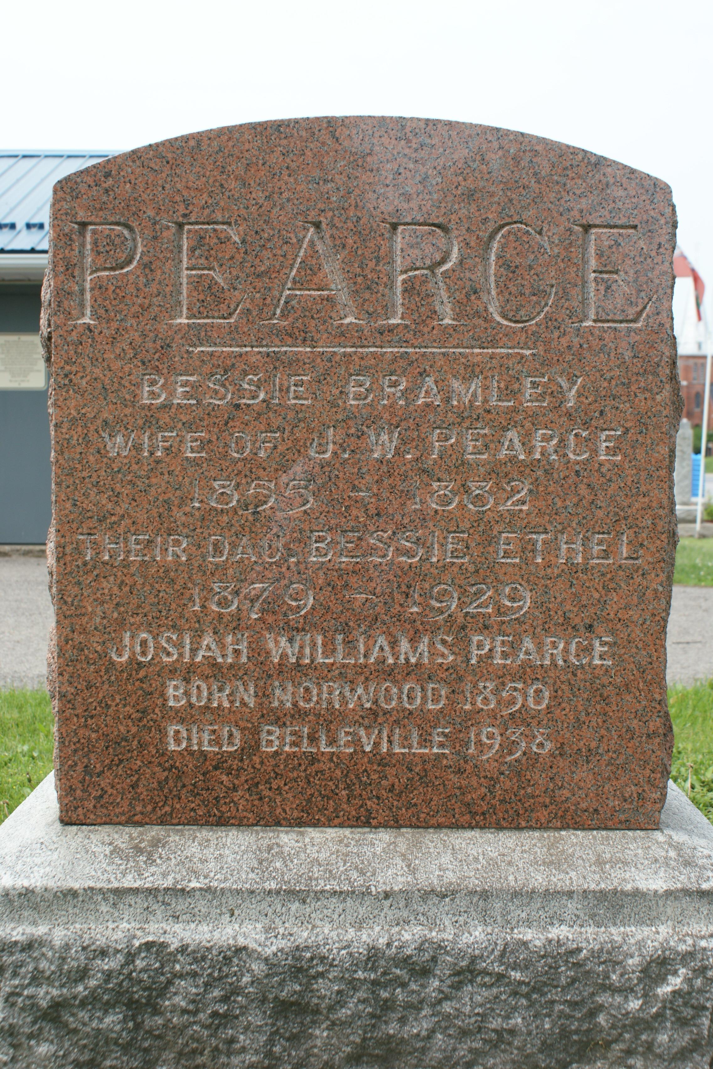 Common Cemetery Josiah  Pearce , Bessie Bramley & d.  Bessie Ethel.JPG