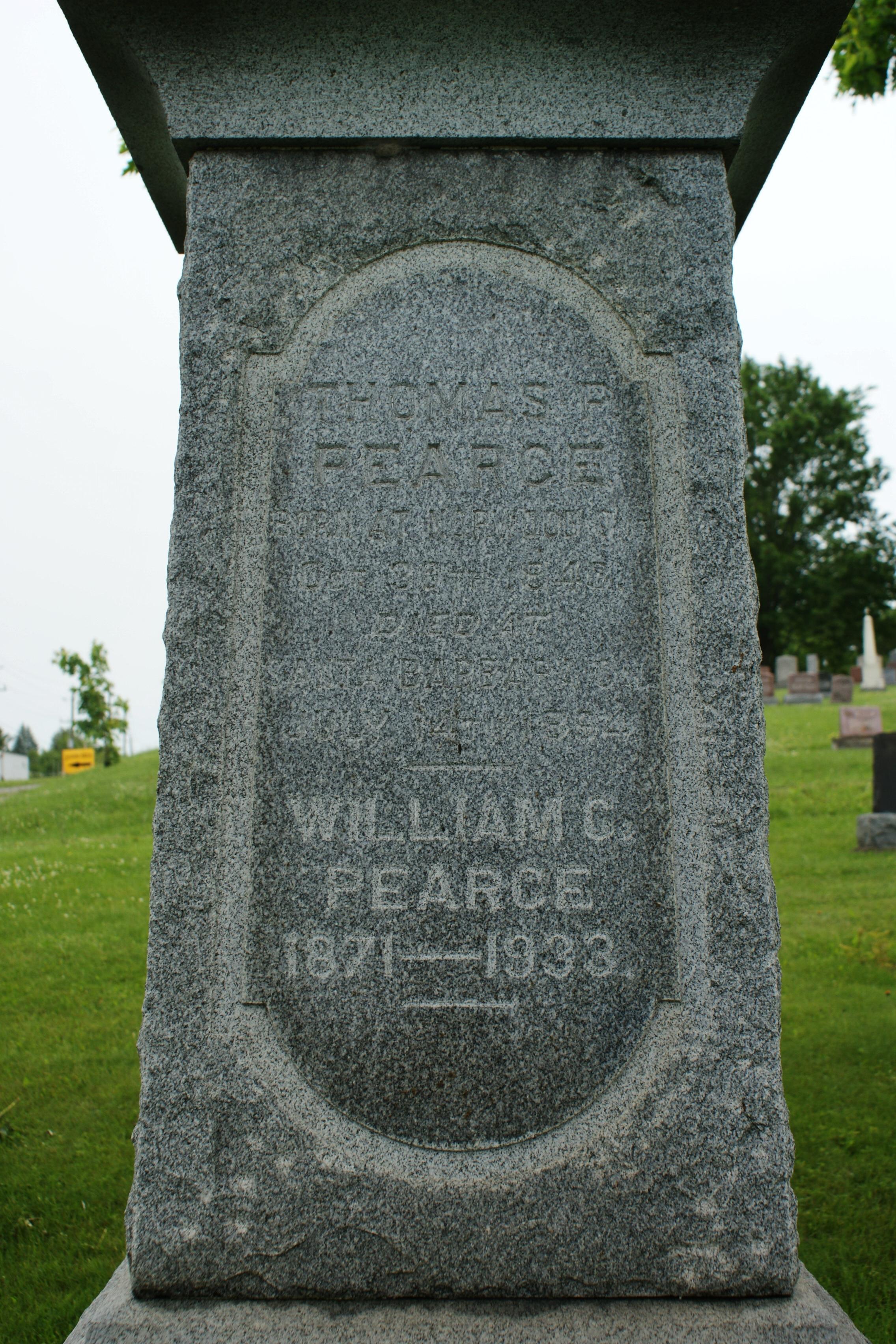 Common Cemetery Pearce Thomas P. Pearce & son, William.JPG