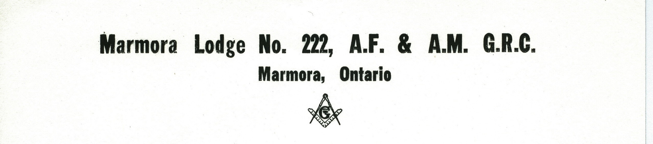 Ancient Free and Accepted Masons. Grand Registrar Canada