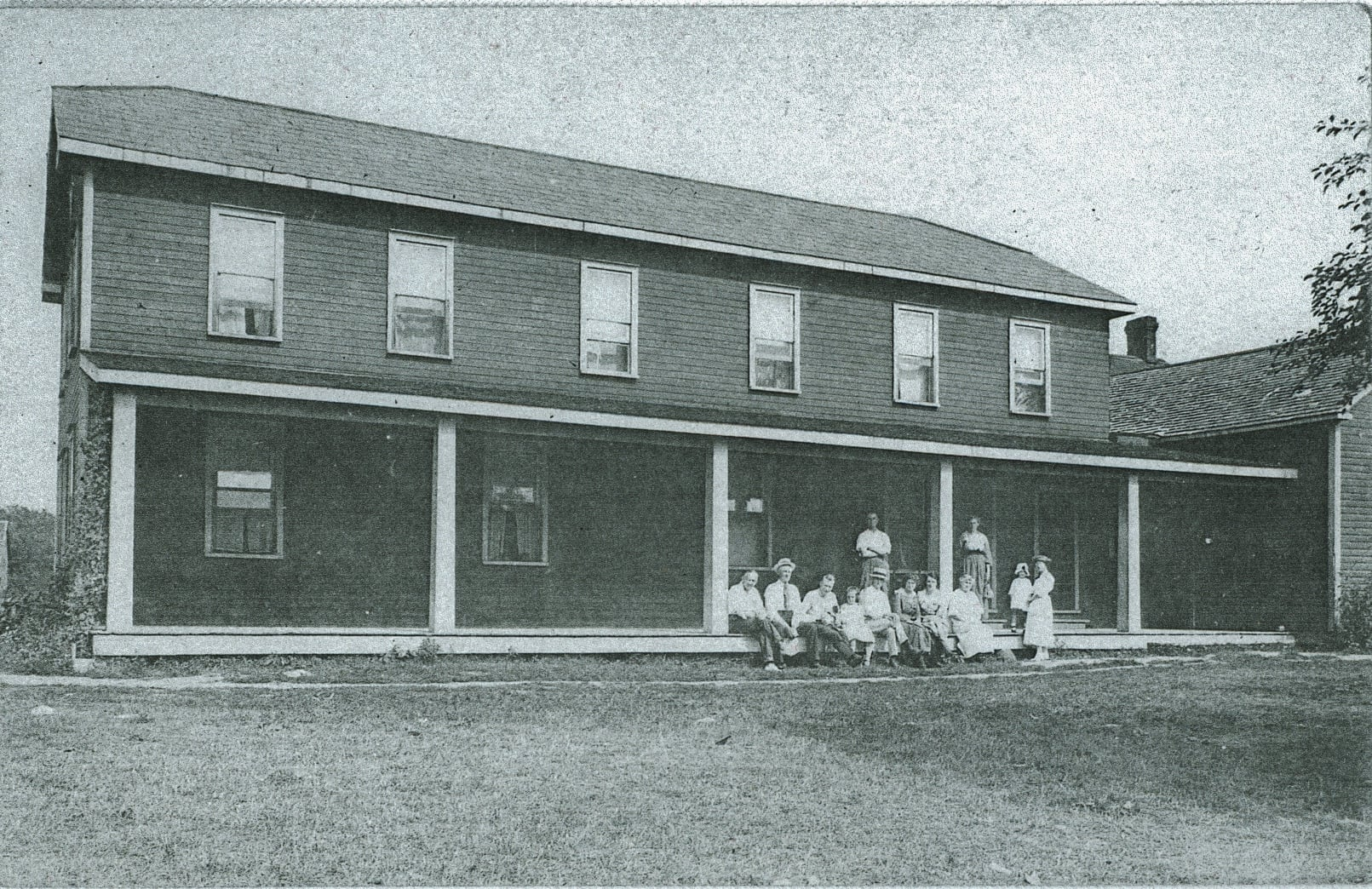 The O'Connor family at the Tipperary Hotel, Crowe Lake