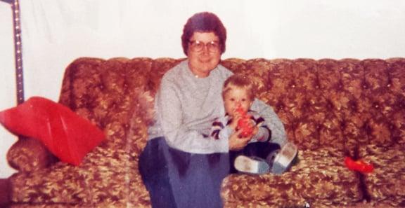 Anne (Collins) Terrion and nephew Josh Loveless