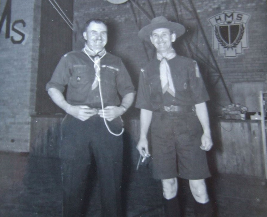 Scout leaders John (Jack) Coulthard and Ernie Harvey.