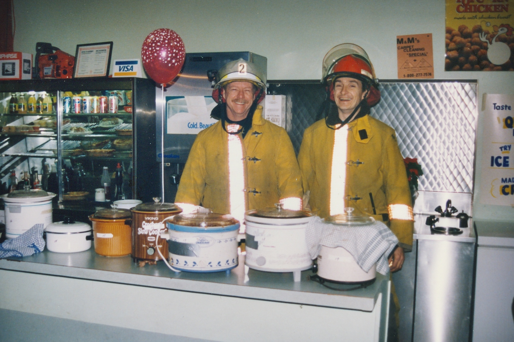 1995 Snofest Fire department ready at Chili Contest