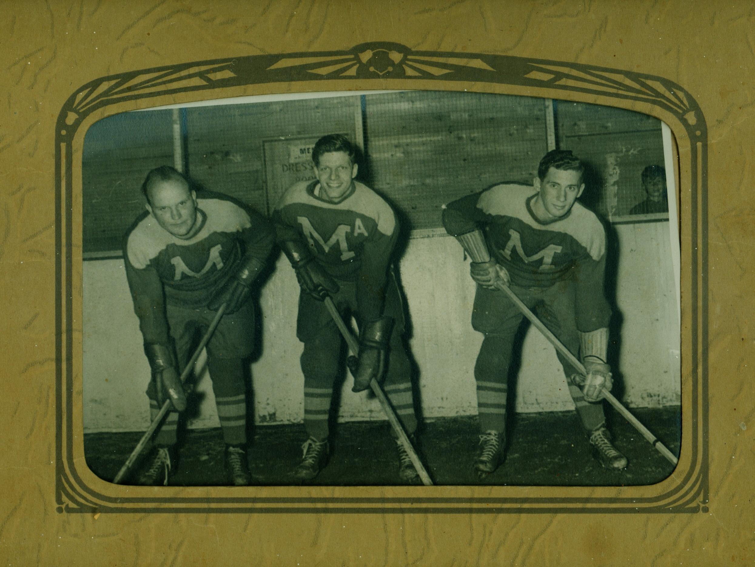 Men's Hockey, Dean Lavender, Tom Cousins, Stub (Ken) Trumble