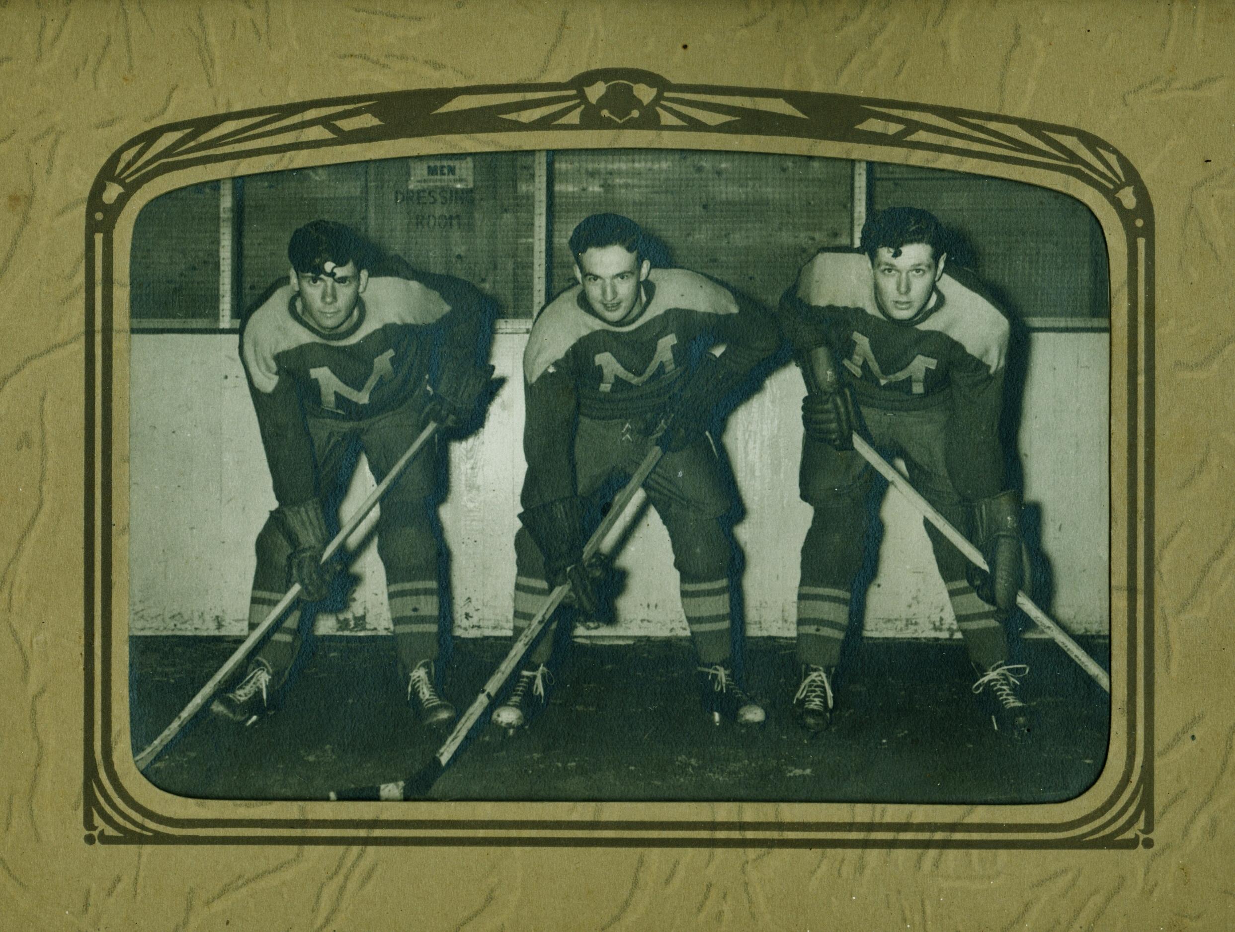 Men's Hockey, Ernie Trumble, Ray Goodchild, Eric McInroy