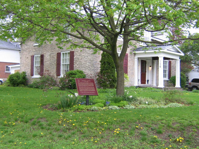 the Moodie house at 114 bridge street in Belleville