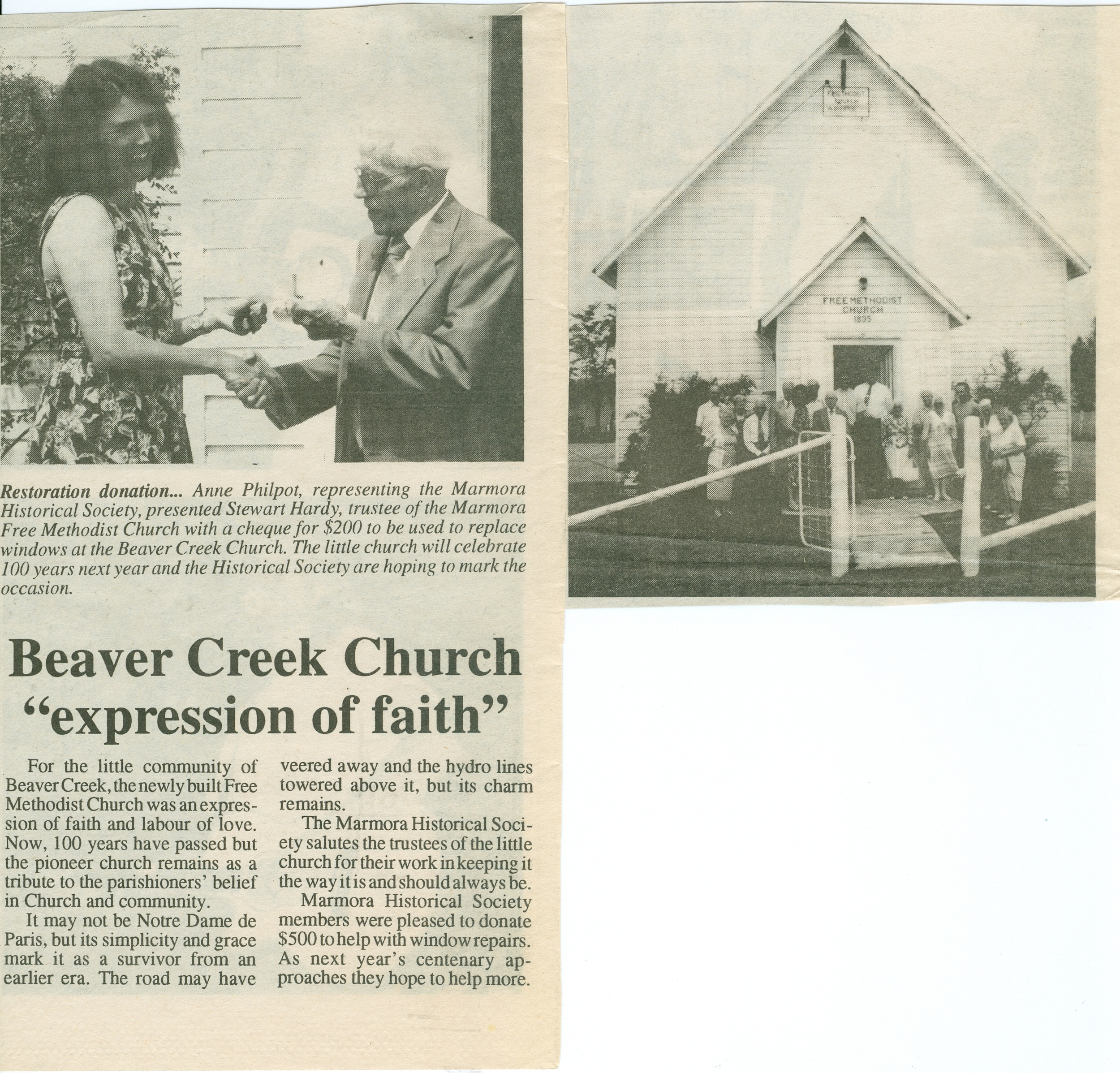MHF donation to Beaver Creek Church.jpg