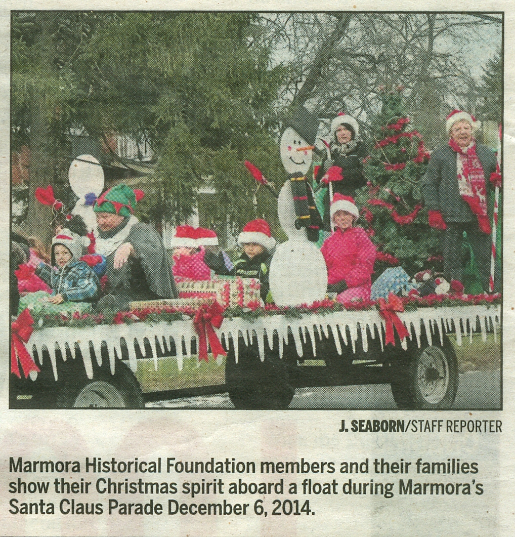 Marmora Historical Foundation Christmas Float 2014.jpg