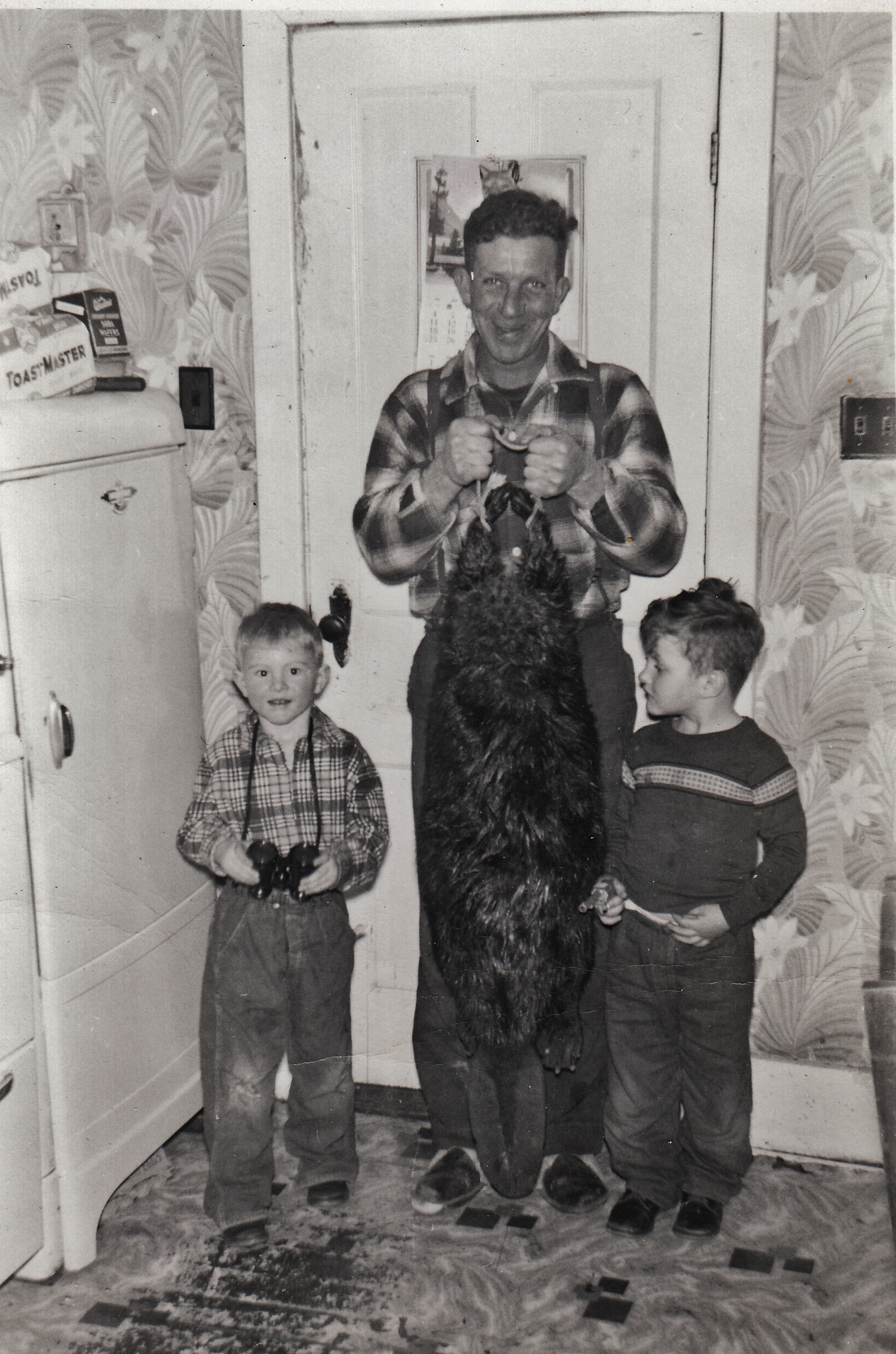Ron, Rick & PeteMcInroy with beaver