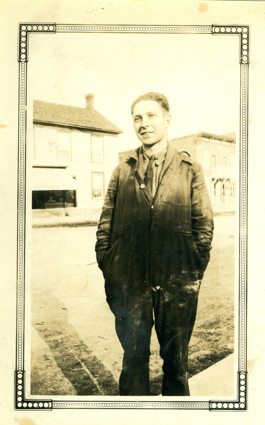 Geprge Forestell, 1930 =Cook's barber ship i background   Pat Anne:  The picture above I believe it is my Uncle Lorne Forestell. It does not look like my Grandfather.