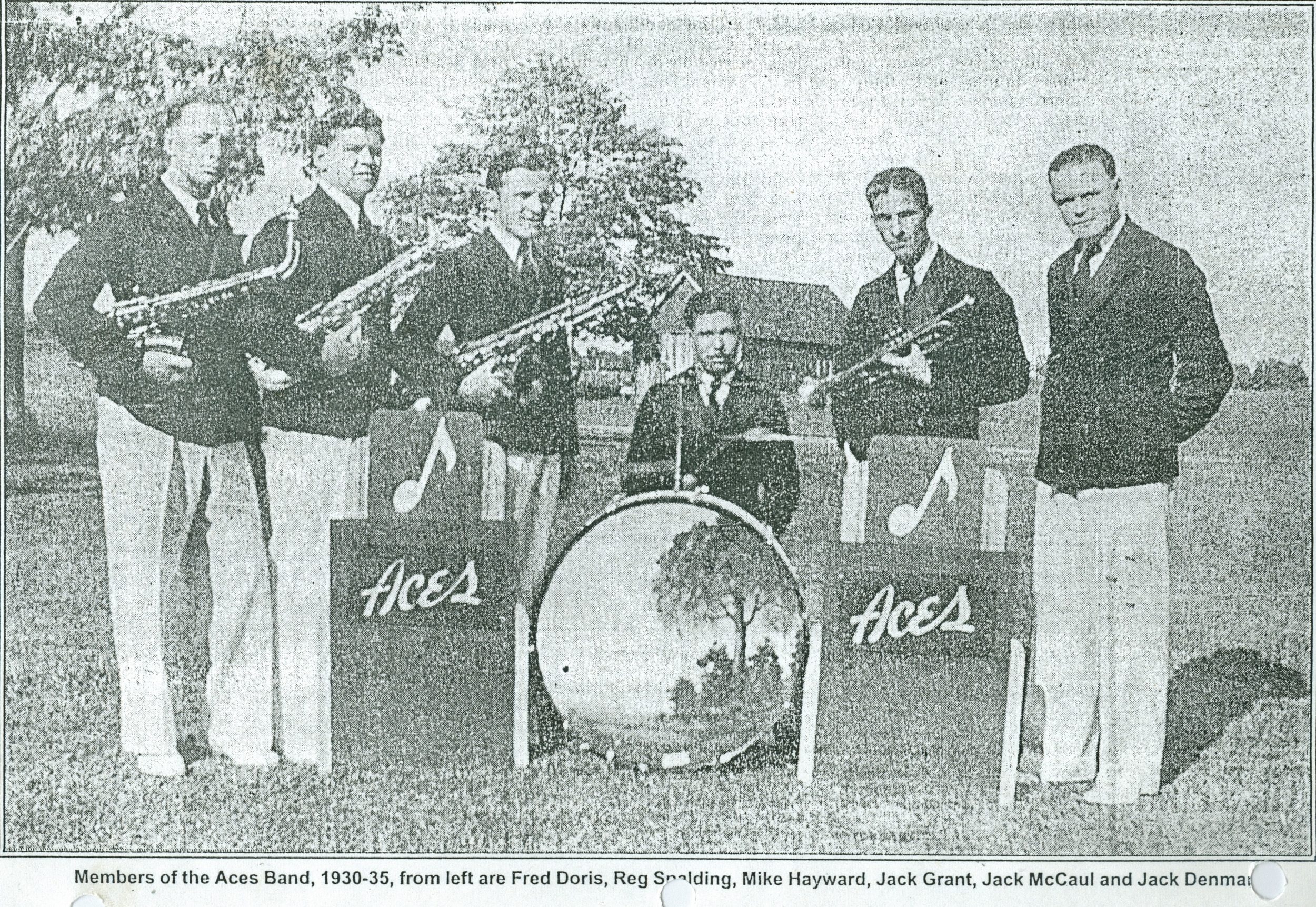 1930-35 bY 1940, jACK dENMARK HAD SPLIT OFF AND HAD HIS OWN ORCHESTRA, AS EVIDENCED BY THE BADMINTON DANCE SHOWN ON RIGHT