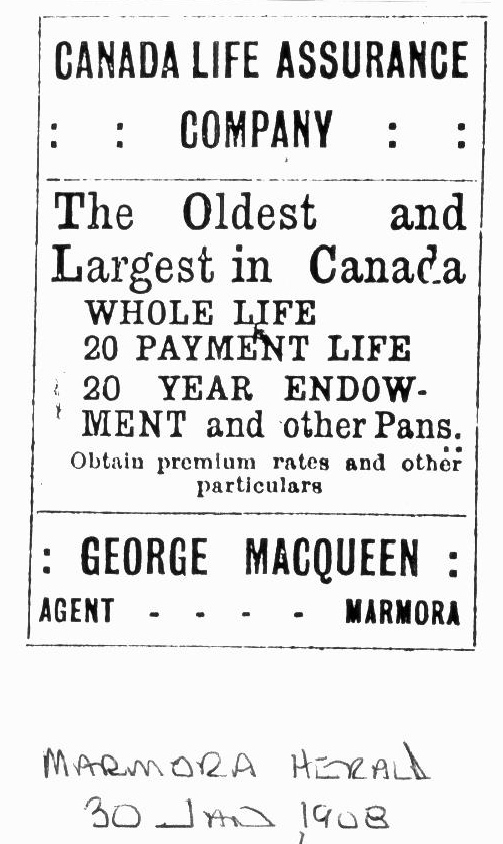 jUNE 30, 1908 Mr. MaccQueen was Justice of the Peace. He was also the lay preacher at thePresbythrian church up on the hill.