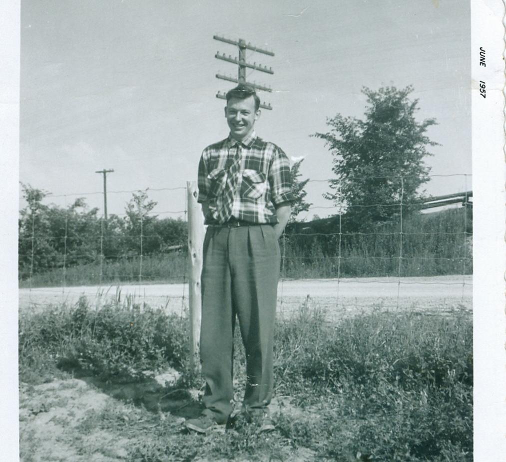 Mr. Miller, teacher at White School 1957