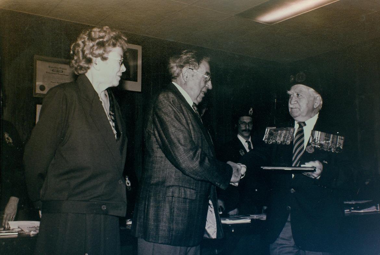 Dr. Herbert Parkin, Margaret Parkin, Percy Gray