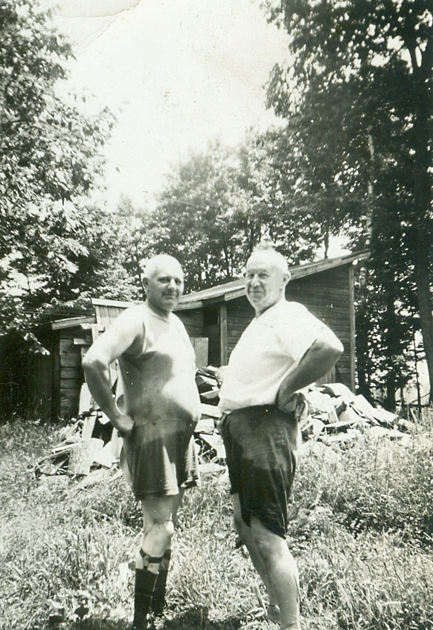 Clarence and cousin, Tom Reid