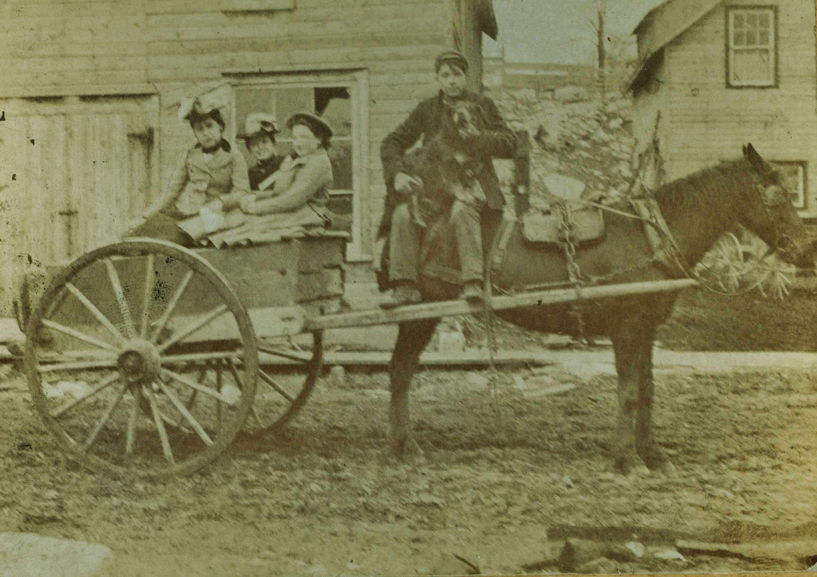 Bert & grandmother, Mae Jones, Cora Hodge, nee Gladney