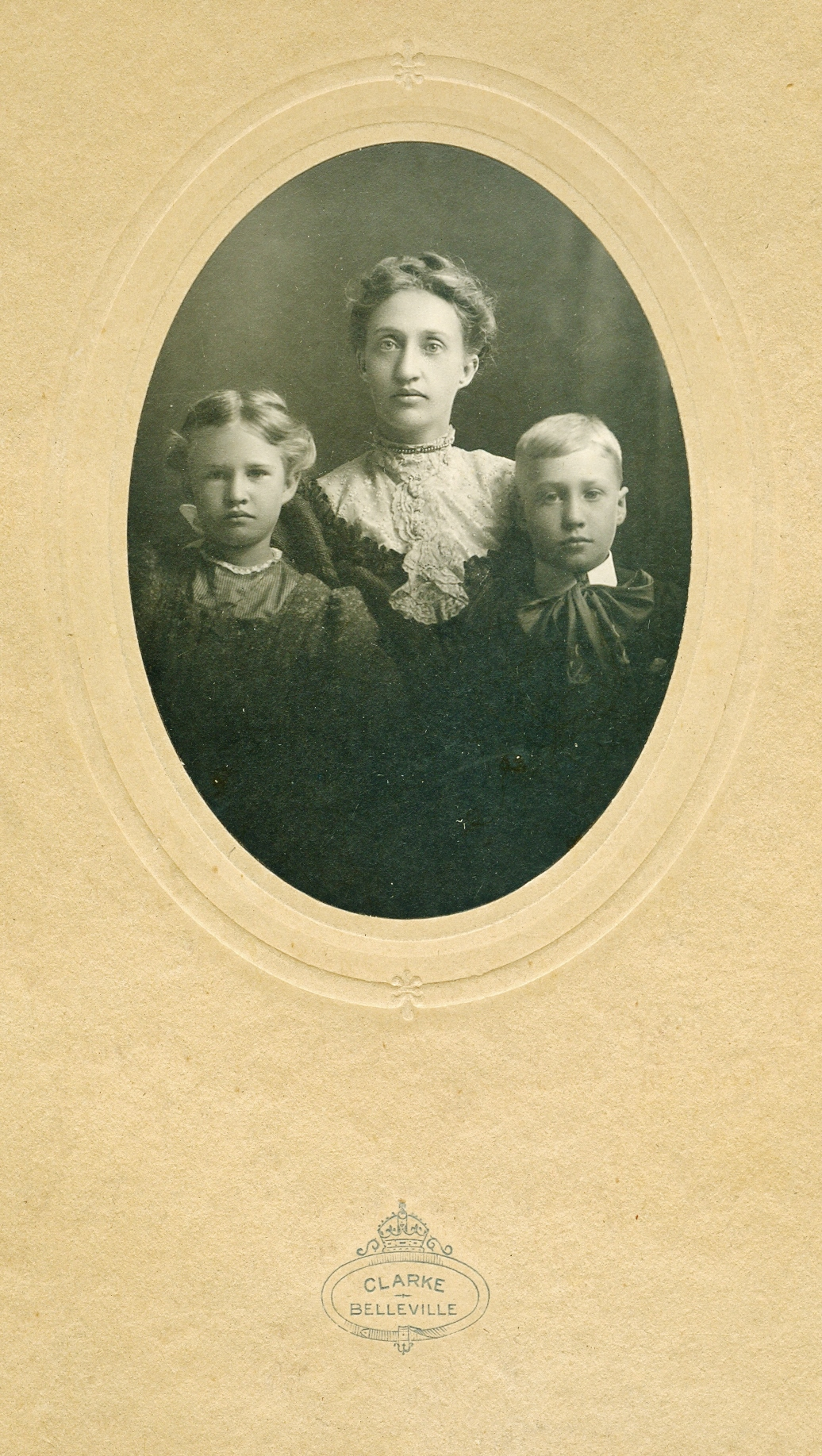 Possibly Mrs. Sarah Fraser Mills withdaughter, Mary Elizabeth and son