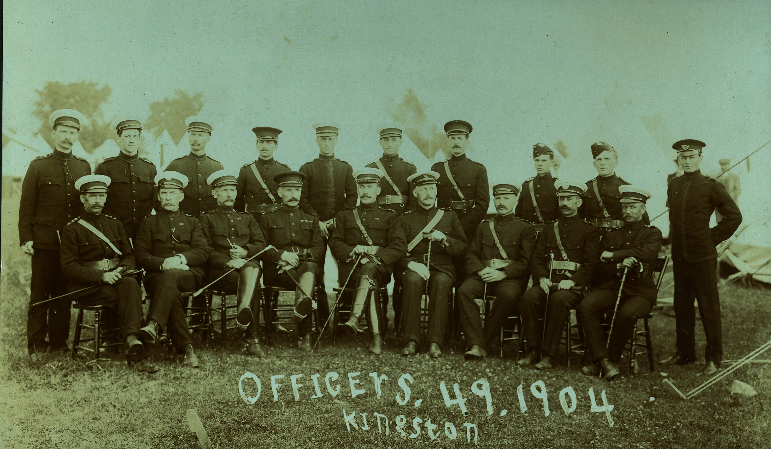 Charles Archibald Bleecker, Officers 1904 1st Row 2nd from right