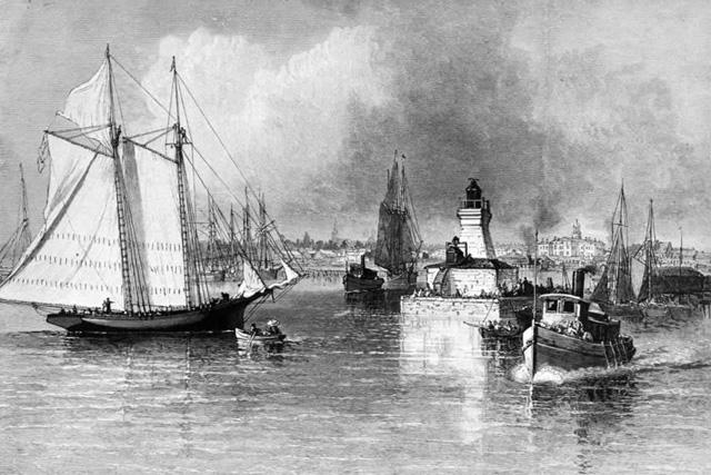 Cobourg Harbour 1870