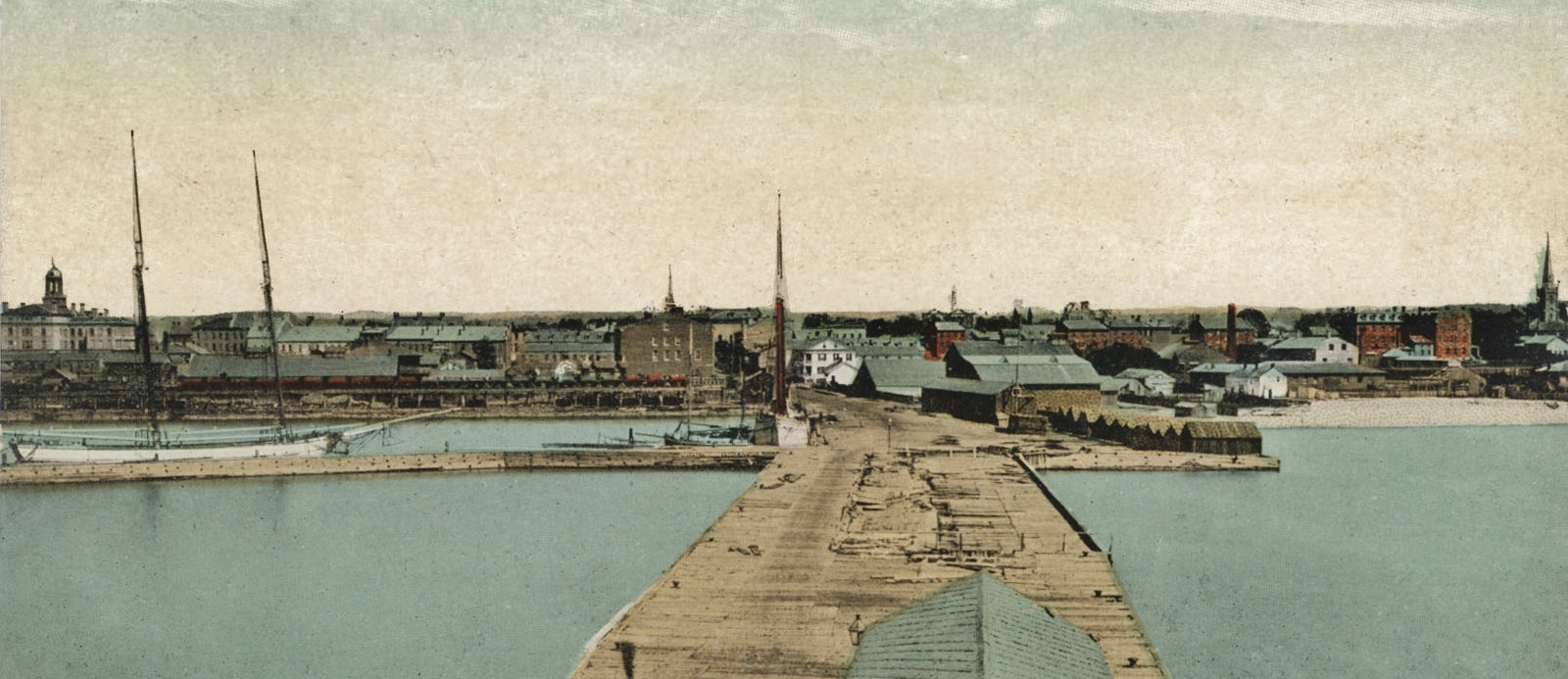 Cobourg Harbour Ore Cars, post 1869                                                                                                                                                              photo provided by george parker
