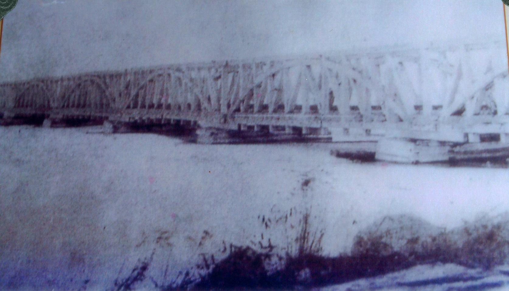 The trestle bridge over Rice Lake at harwood