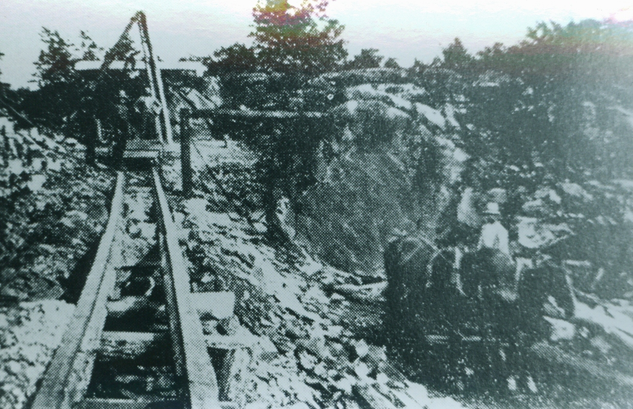Ledyards Gold Mine, East half of Lot 19, Conc. 1 Belmont Twp. 1893-1896